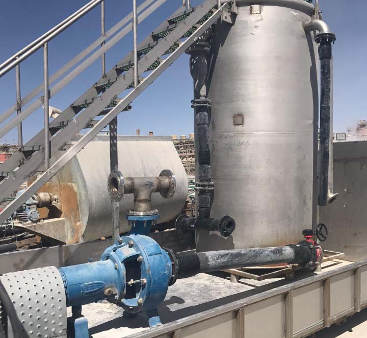 Special pumping solution - Wet